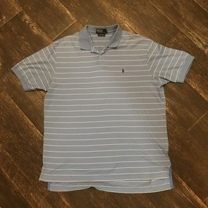 Ralph Lauren Collared Polo Shirt Blue Pima Cotton